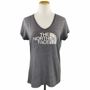 The North Face Gray Slim Fit Logo Graphic Tee